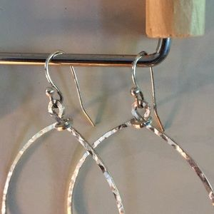 Express Jewelry - Silver colored earrings. Hammered.
